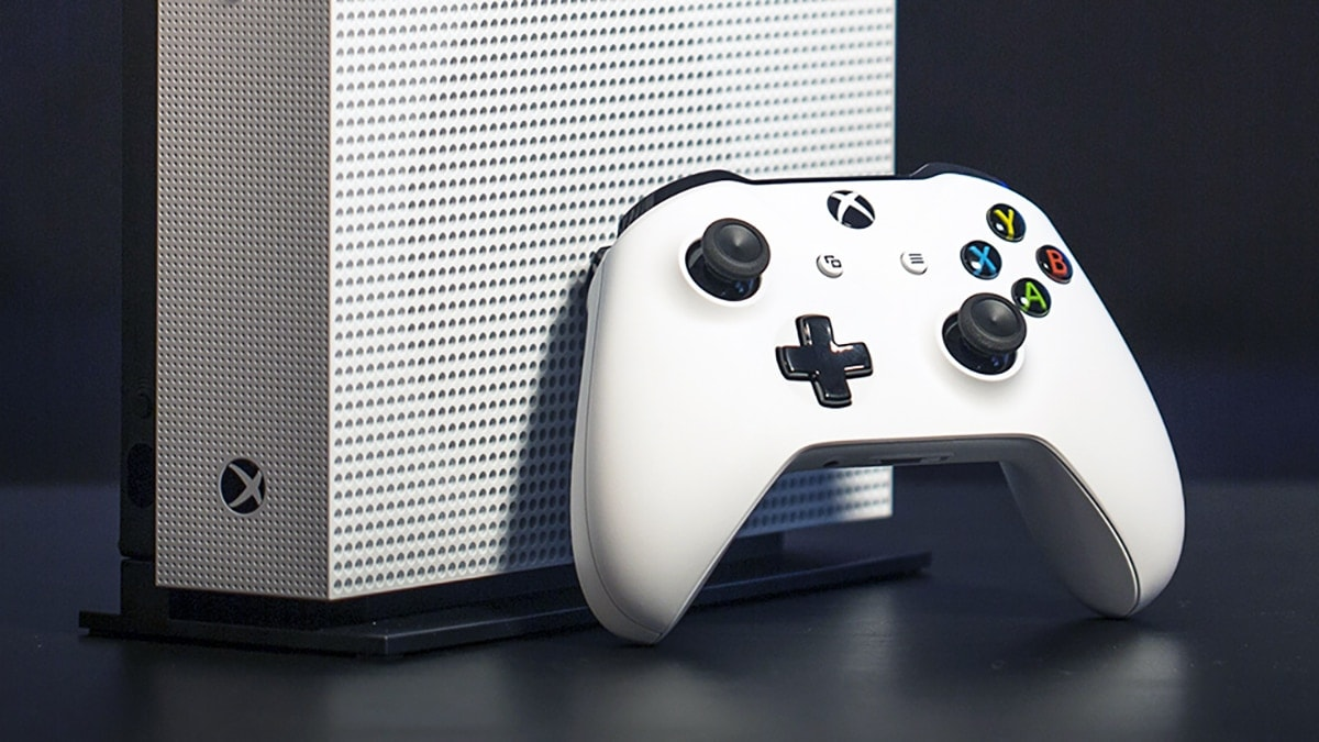 Xbox One S All Digital de perfil