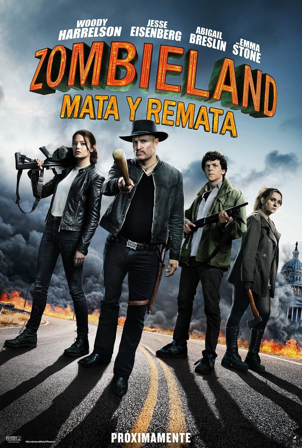 Póster oficial Zombieland: Mata y remata (2019)