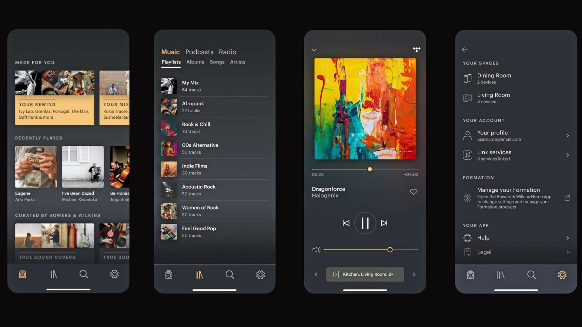 Bowers & Wilkins music app